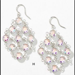 Touchstone Crystal sparkling mesh earrings BNIB